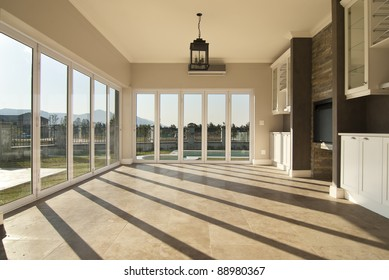 Empty lounge of a modern house