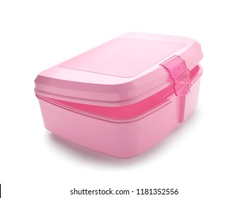 Empty lunch box on white background