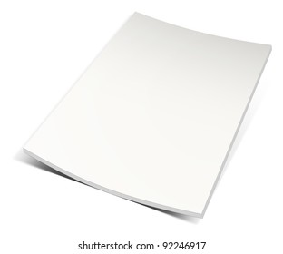 Empty magazine on white background. Perfect blank