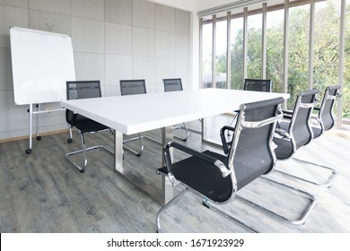 Empty meeting room Conference with chair, table and white board