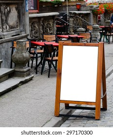 empty menu board with clipping path