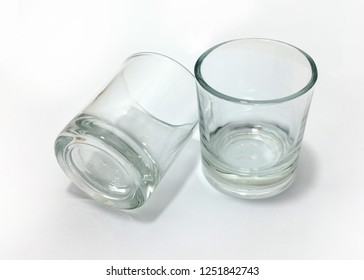 Empty mini glasses