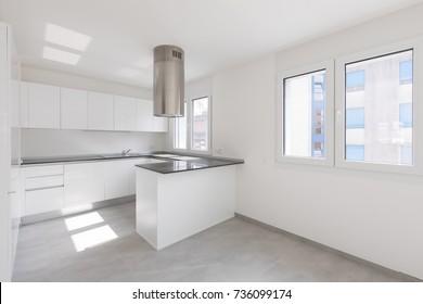 Empty modern apartment, empty spaces