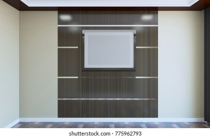 Empty modern office Cabinet. Meeting room. 3D rendering.