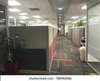 Empty modern office space, Tel Aviv, israel 20.12.2017