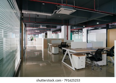 empty modern office with table and chair
