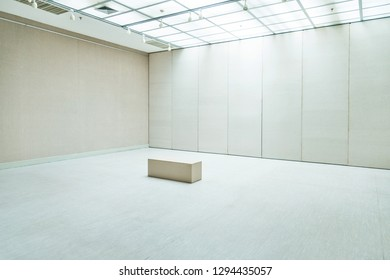 Empty modern space for exhibition.