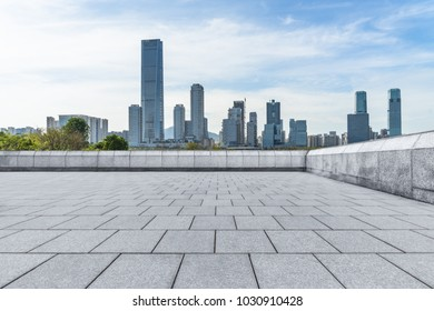 empty and modern square in modern city
