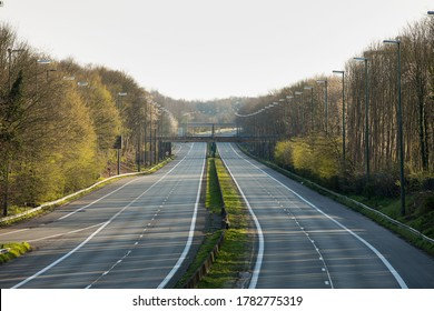 Empty motorway during the COVID19 pandemic lockdown