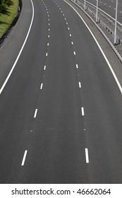 empty motorway lanes near cheslyn hay staffordshire uk