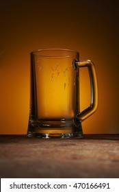 empty mug of beer