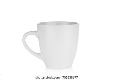 Empty mug isolated on white background