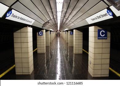 Empty New York City Subway Station