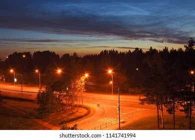 Empty night road