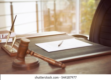 Empty notary workplace