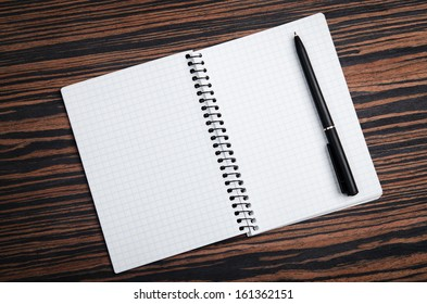empty notebook on a background