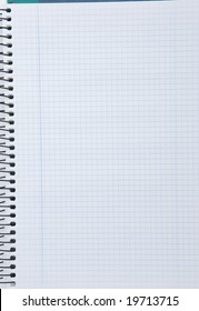 Empty notebook with squares. Material for the school