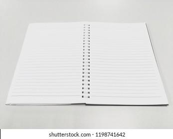 Empty notepad background