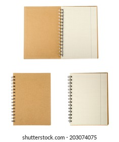 Empty notepad (notbook) isolated on white