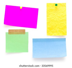 empty notes isolated on white