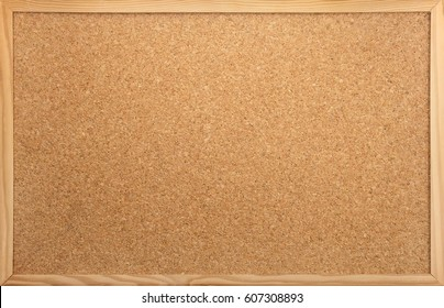 empty notice-board made of cork as backdrop