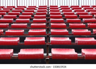 Empty and numbered seats in a stadium