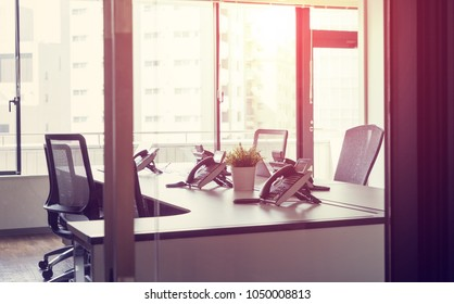 Empty office room concept.