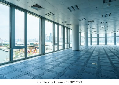 empty office room with modern style