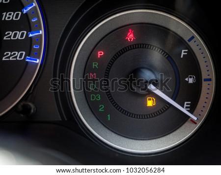 Empty Oil Display Alert Car Speed Stock Photo Edit Now 1032056284