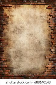 Empty Old Brick Wall Texture.