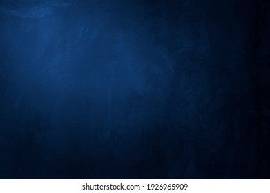 Empty old dark blue cement wall texture backgrounds