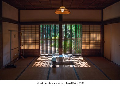 empty old Japanese room with window