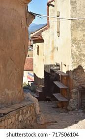 Empty old rock street