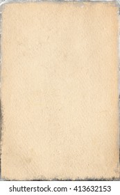 empty old vintage paper background in frame.Weathered and ancient Kraft Paper texture