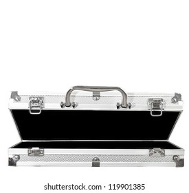 Empty Open Case on White Background
