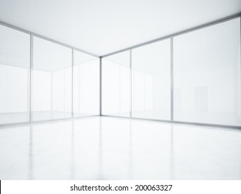Empty open plan interior