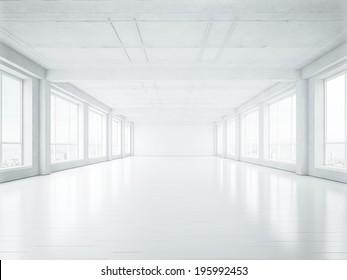 Empty open plan office