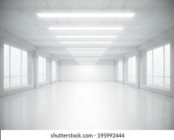 Empty open plan office interior