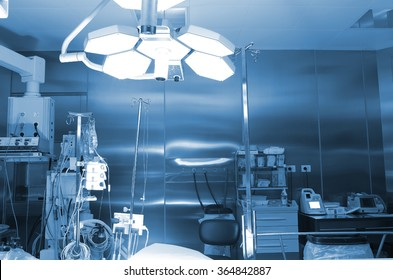 Empty operating room in the hospital