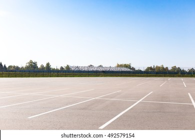 Empty outdoor car park
