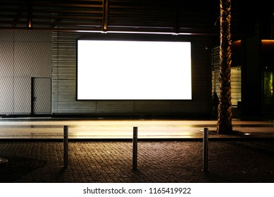 Empty outdoor digital signage light box  Ideal for digital advertisement, information board, mall ads, video wall,  large posters for campaigns and mockups
