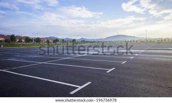 Empty outdoor parking space