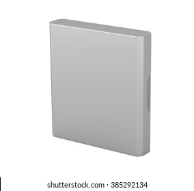 empty pack of cigarettes with beveled corners on a white background