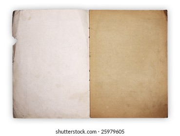 empty pages isolated on white background with clipping path