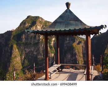 Empty pagoda in Longqingxia National Park in China