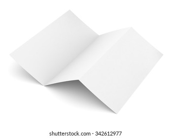 Empty paper booklet on isolated white background