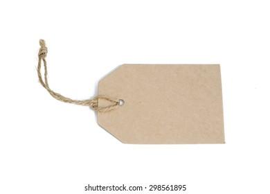 empty paper tag