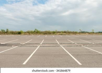 Empty parking lot