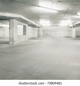 Empty parking area, can be used as background