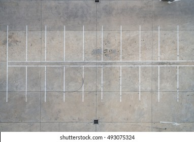 Empty parking lots, aerial view.